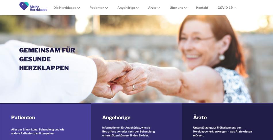 Website von Meine Herzklappe