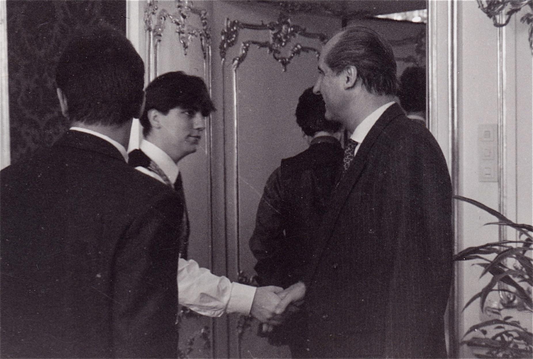 Jürgen Gangoly als Jugendvertreter beim Bundespräsidenten Klestil