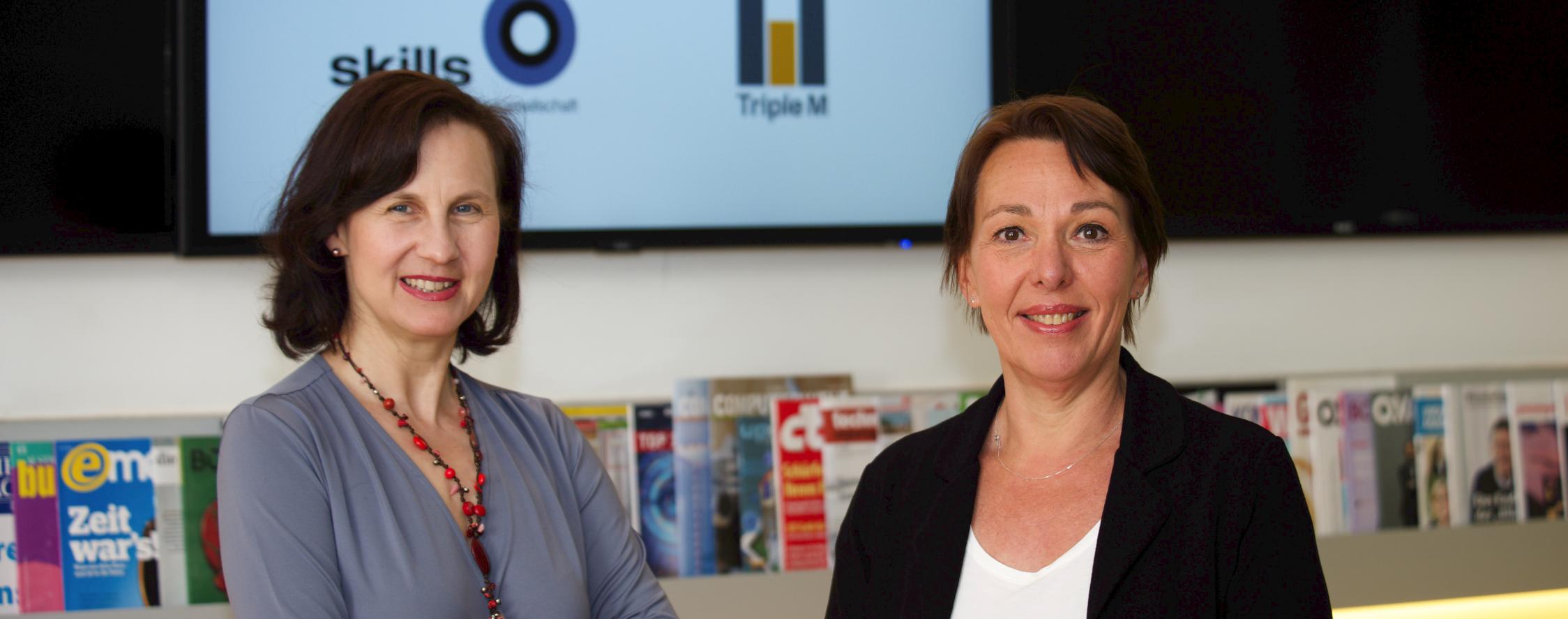 Karin Wiesinger von Skills und Christina Matzka von Triple M stellen das Tool vor