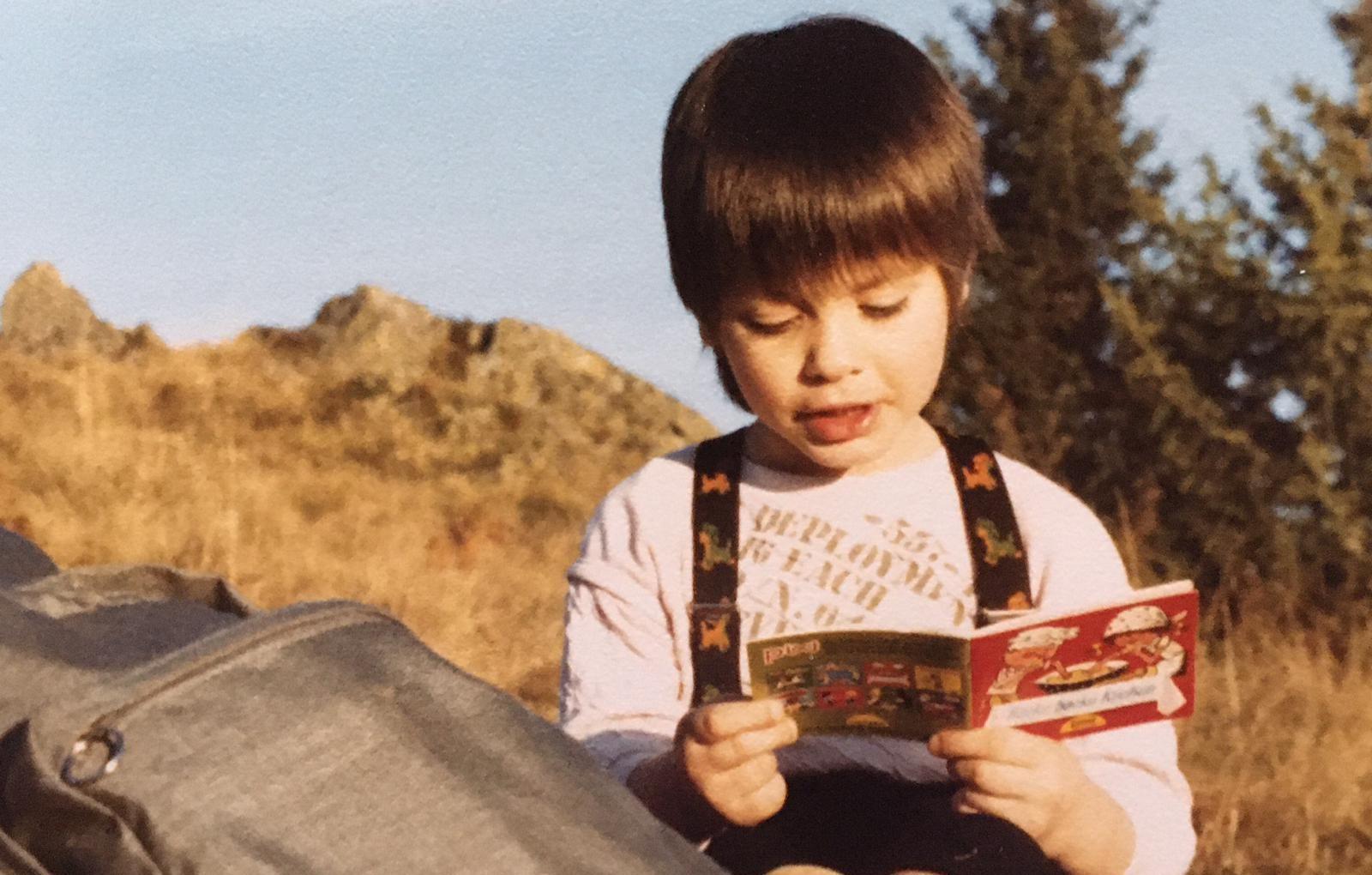 Verena Scheidl als Kind
